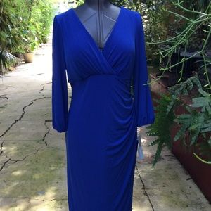 London Times Royal Blue Dress NWT
